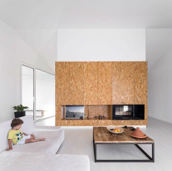 Osb in huis wooninspiratie for Huis en interieur tijdschrift