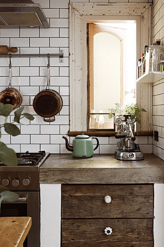 Oude kasten als keukenkast gebruiken
