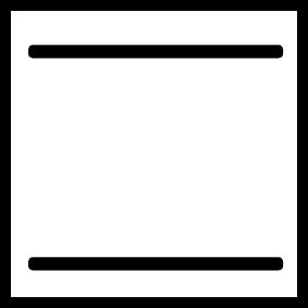 Oven teken boven- en onderwarmte