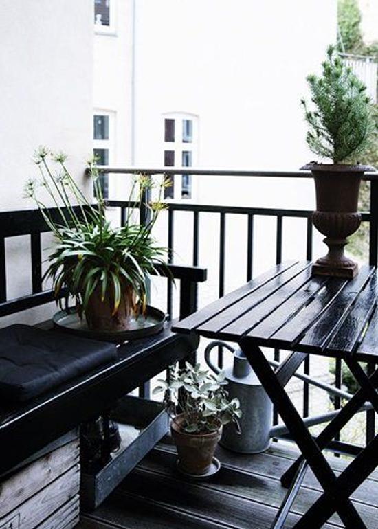 Overdekt balkon of terras