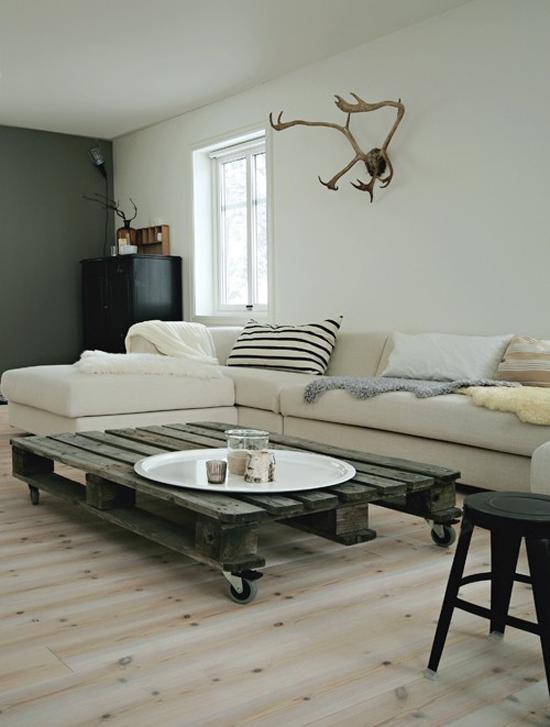 zelfgemaakte pallet tafel wooninspiratie. Black Bedroom Furniture Sets. Home Design Ideas