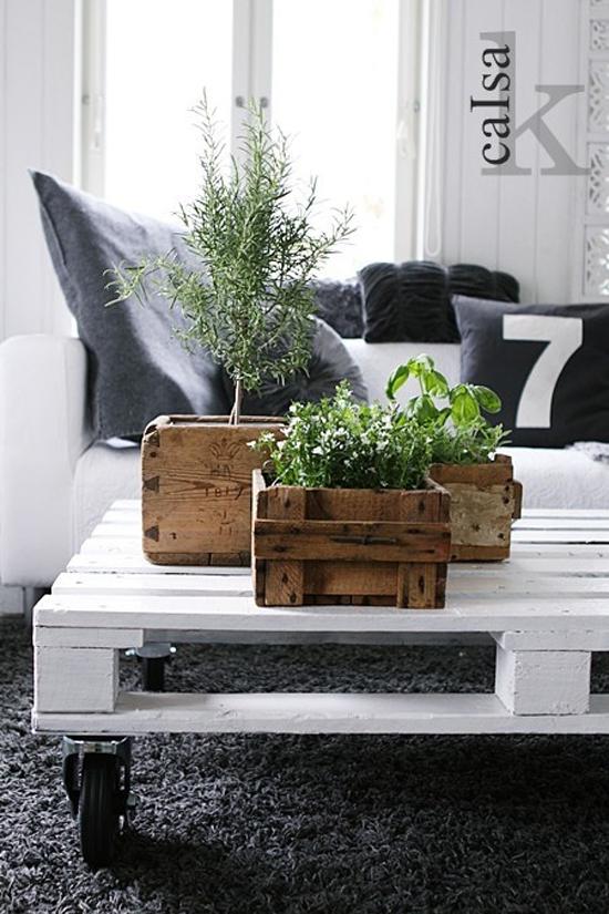 Voorkeur Zelfgemaakte pallet tafel | Wooninspiratie WM26