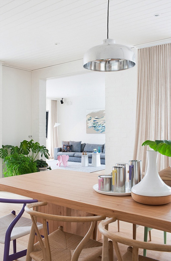 Huisinrichting met pastel details
