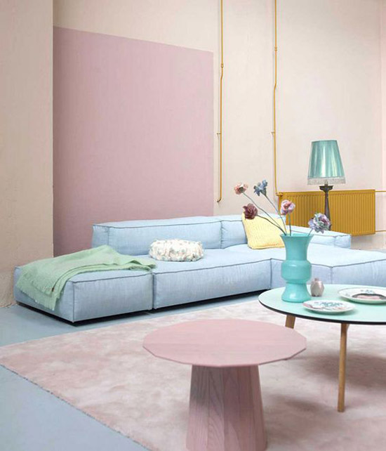 Colorful Minimal Room: Pastelkleuren In De Woonkamer