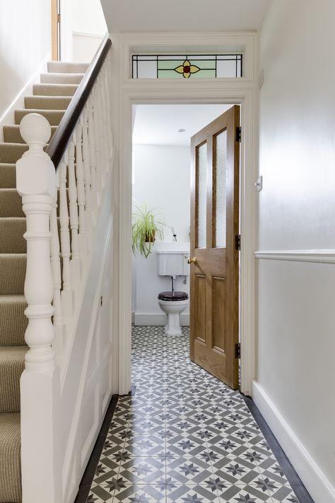 Patroontegels in de hal wooninspiratie - Deco hal originele badkamer ...