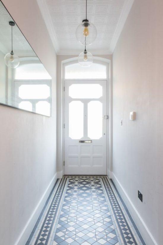 Patroontegels in de hal wooninspiratie - Deco hal binnenkomst huis ...