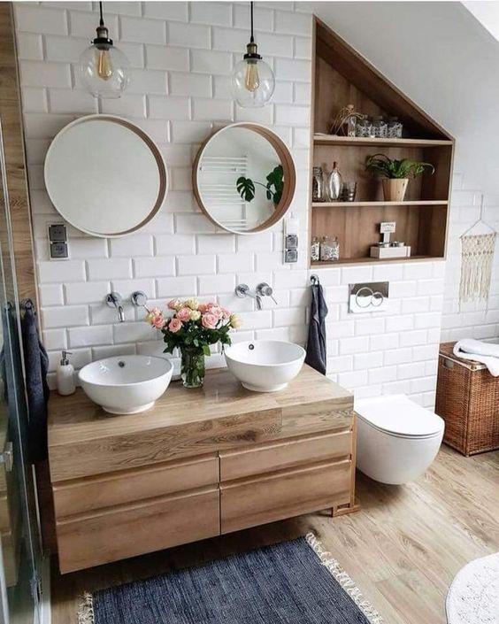 Planken nisje badkamer