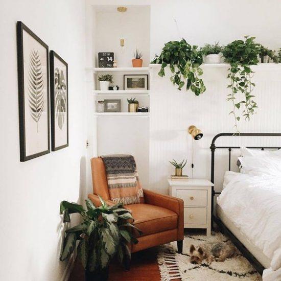 planten in de slaapkamer wooninspiratie