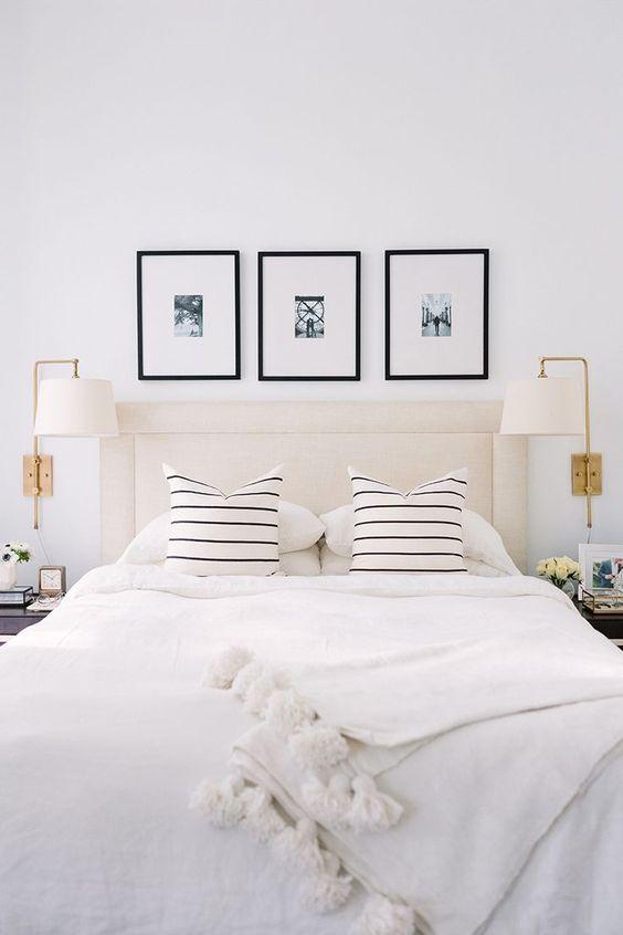 Pom pom deken in de slaapkamer