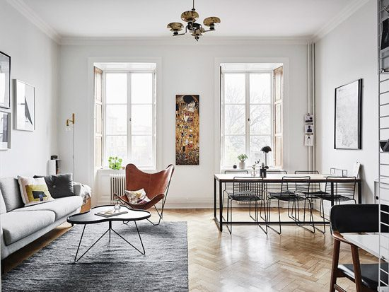 Prachtig Zweedse woonkamer
