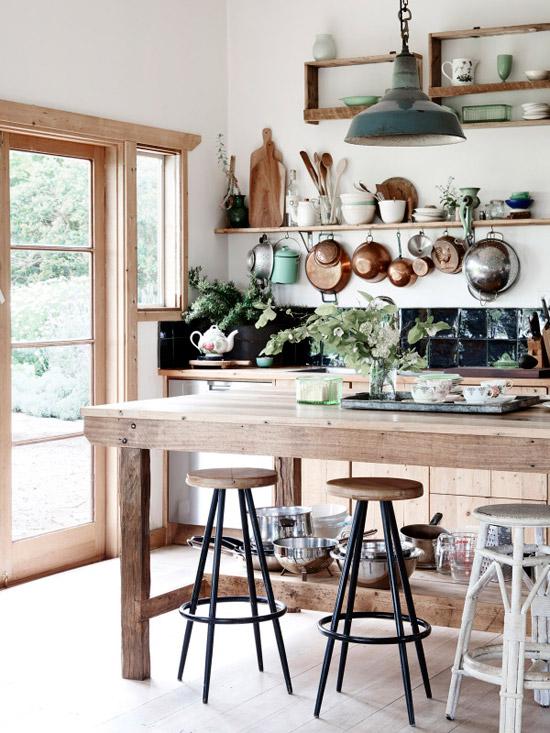 Prachtige boerderij keuken