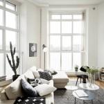 Prachtige witte lichte woonkamer