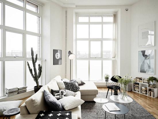Prachtige witte lichte woonkamer | Wooninspiratie