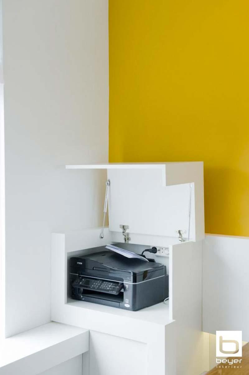 printer verbergen ombouw