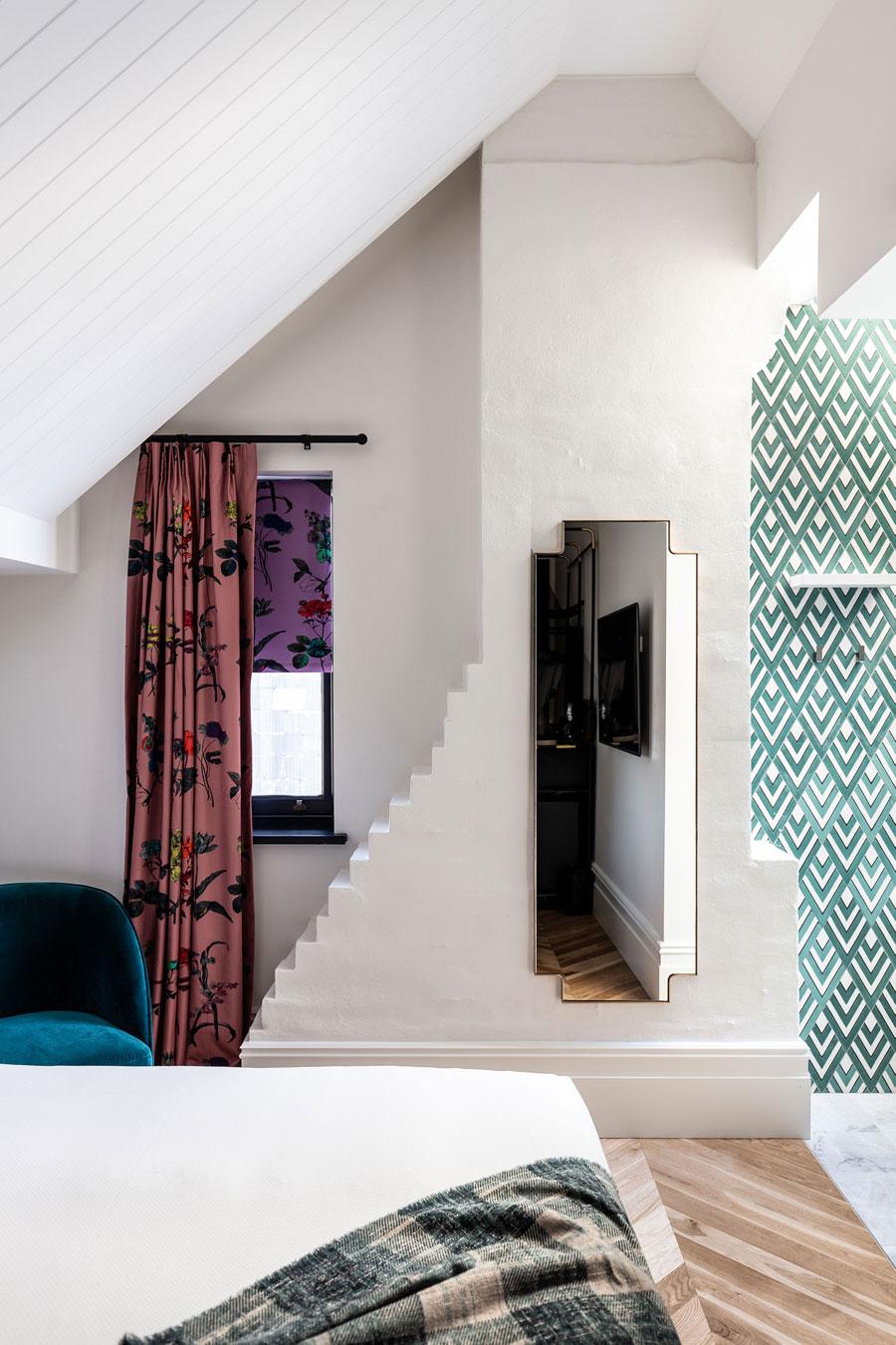 Retro chique badkamer van mooie boetiekhotel uit Sydney
