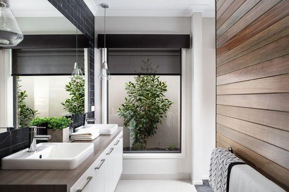 Rolgordijn voor de badkamer wooninspiratie
