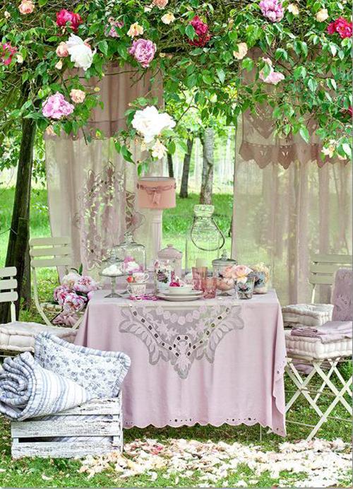 Romantische tuin idee n wooninspiratie - Outs kleine ruimte ...