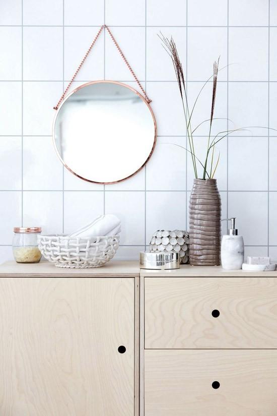 Ronde spiegels wooninspiratie for Spiegel voor in de wc