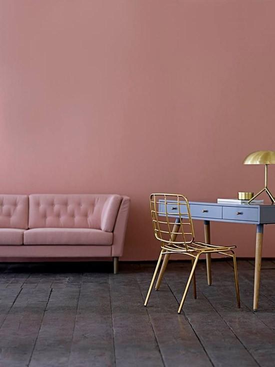 roze muur wooninspiratie. Black Bedroom Furniture Sets. Home Design Ideas