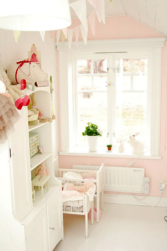 Roze kinderkamer  Wooninspiratie