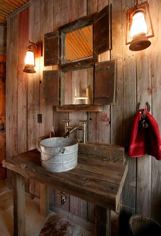 Rustieke badkamerinrichting wooninspiratie - Rustieke badkamer meubels ...