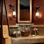 Rustieke badkamerinrichting