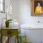 Schilderij in de badkamer