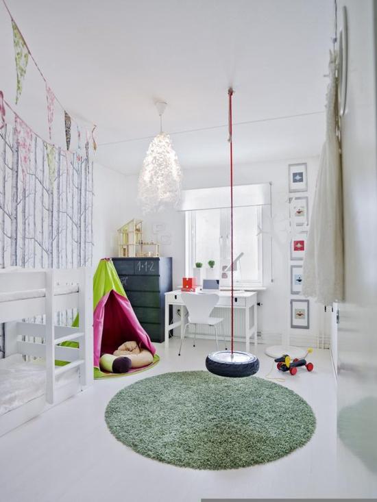 Kinderkamers met een schommel