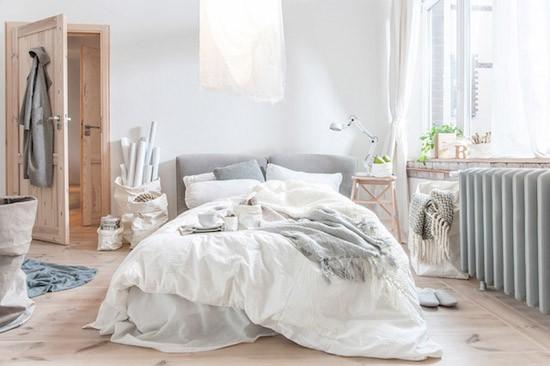 slaapkamer met houten details  wooninspiratie, Meubels Ideeën