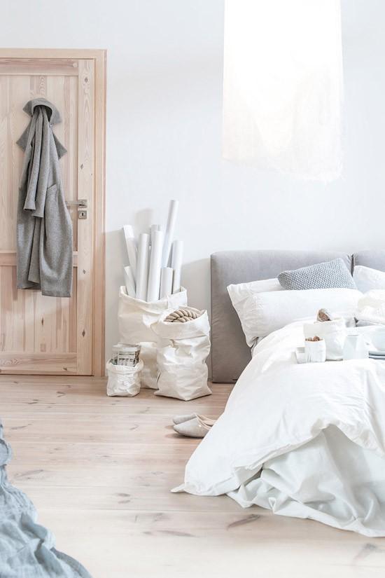 Slaapkamer met houten details  Wooninspiratie