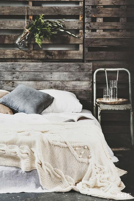Slaapkamer met winterse sfeer wooninspiratie - Sfeer en kleuren ...