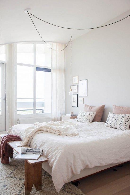 slaapkamer met zachte kleuren wooninspiratie