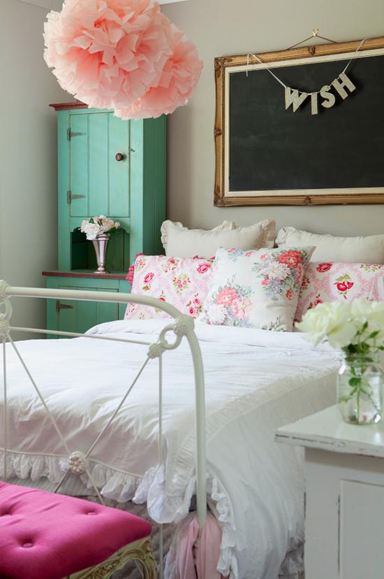 bloemige slaapkamer inrichting van sandy wooninspiratie