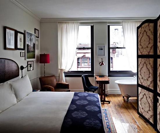Slaapkamer Garcia : Slaapkamers van het Nomad hotel Wooninspiratie