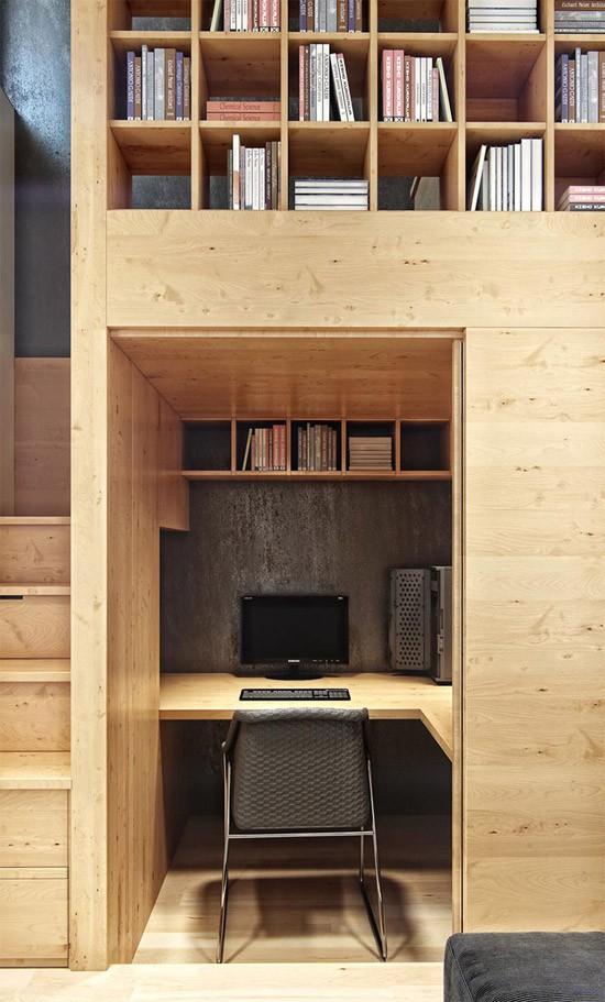 Slim ontworpen klein appartement
