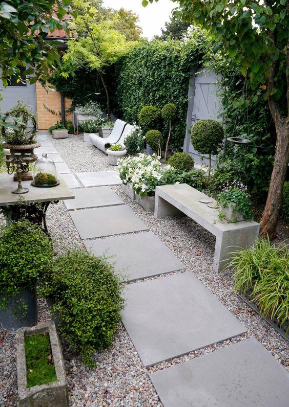 Smalle lange tuin