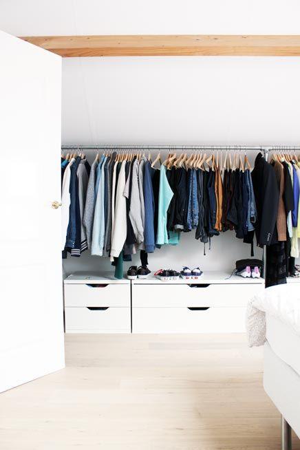 Steigerbuizen kledingrek IKEA Stolmen ladekasten