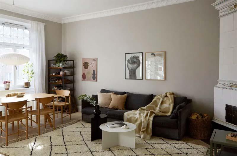 stijlvolle woonkamer mooie kleuren