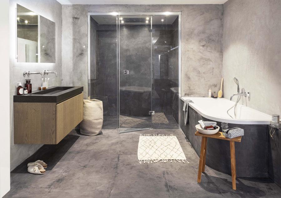 Betonstuc Badkamer Kosten : Stoere moderne betonstuc badkamer wooninspiratie