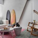 Stoere woonkamer nabij het strand