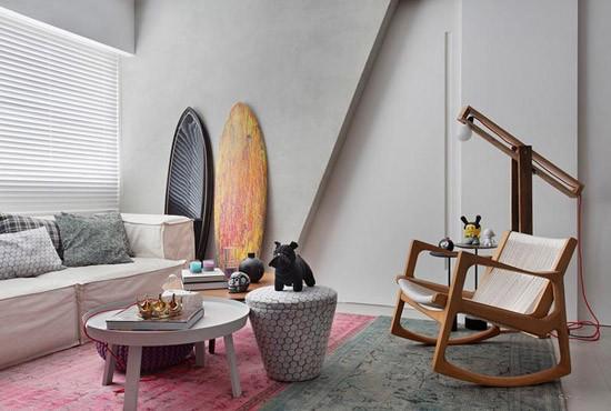 Stoere woonkamer nabij het strand | Wooninspiratie