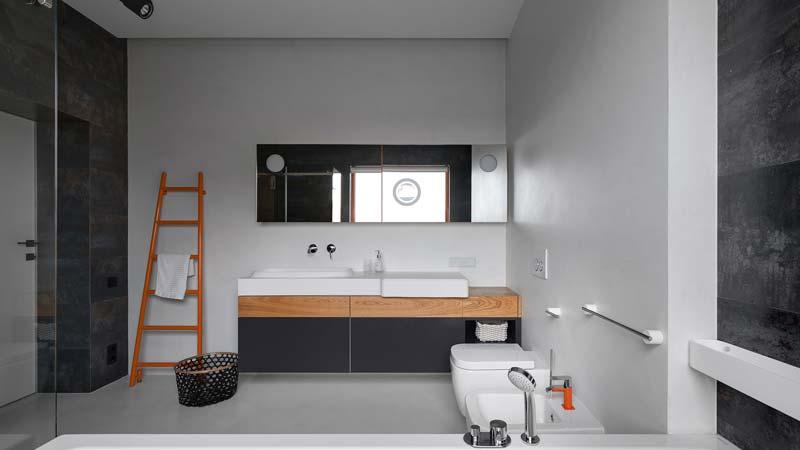 strakke minimalistische badkamer