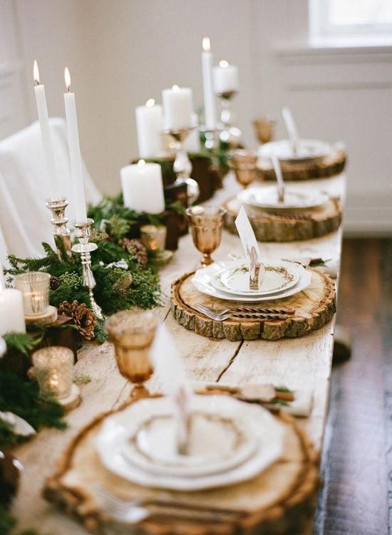 Tafel dekken met kerst