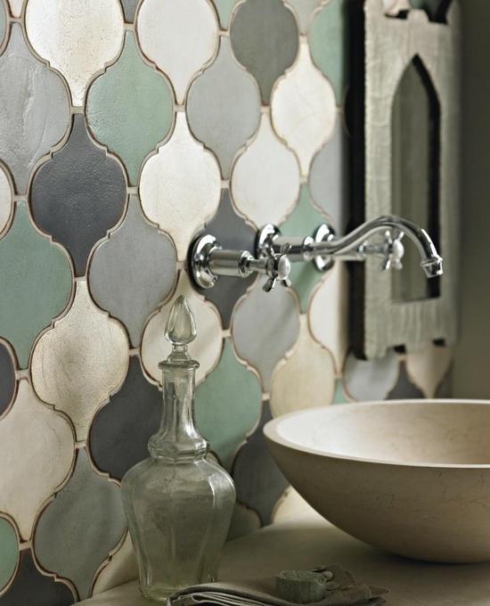 Badkamer met marokkaanse invloeden