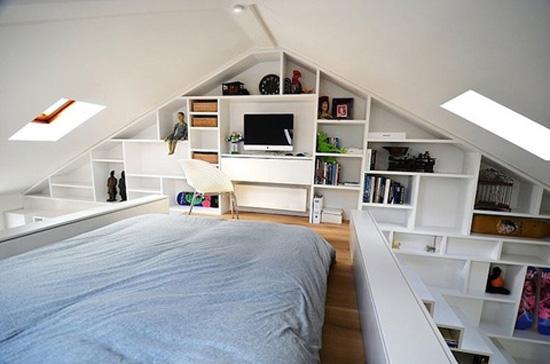 Inrichten Klein Huis : Een kleine loft met grote opbergruimtes wooninspiratie