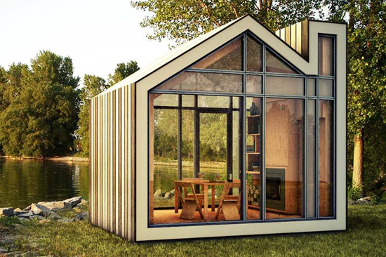 Tuinhuis in de tuin wooninspiratie for Case container prezzi