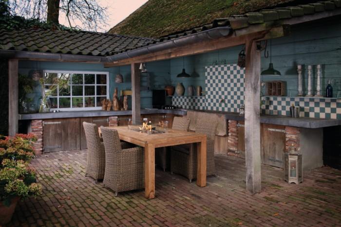 Hoe maak je van je tuintafel een vuurtafel wooninspiratie for Gartengestaltung rustikal
