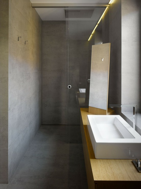 Aarding Van De Badkamer ~ Badkamerinrichting met betonnen invloeden  Wooninspiratie