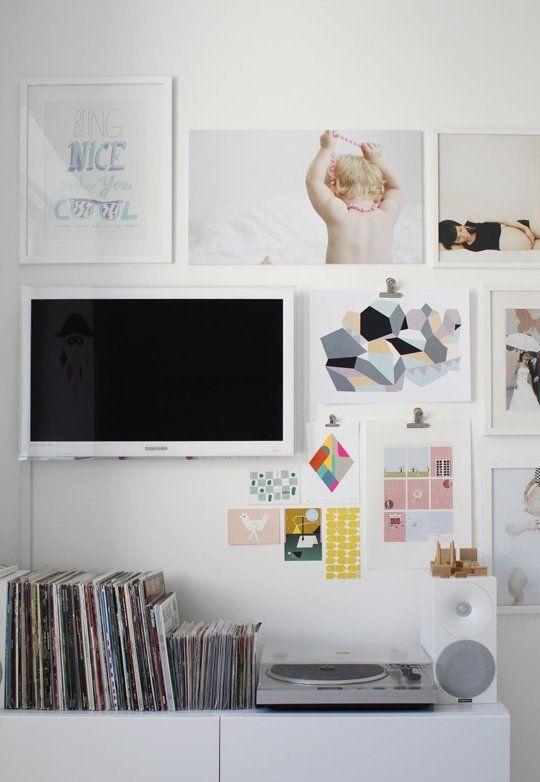 TV  als onderdeel van een collage