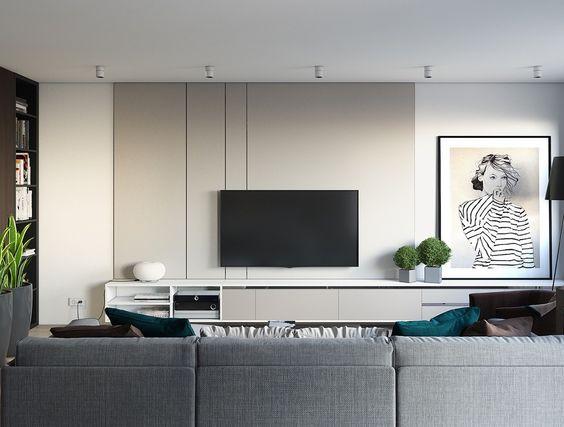 Ideeën voor het ophangen van de tv aan de muur wooninspiratie